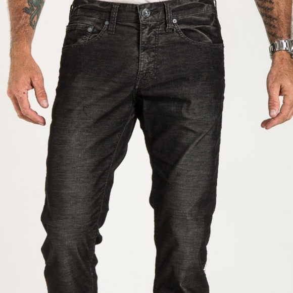 Stitch's Other - Barfly slim corduroy in black